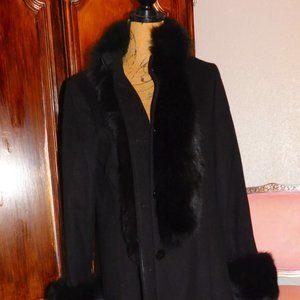 KATHERINE KELLY Cashmere & Real Blue Fox Fur
